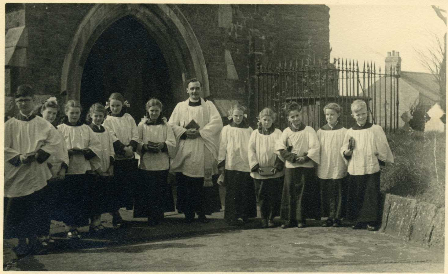 Choir Outside Church 1950