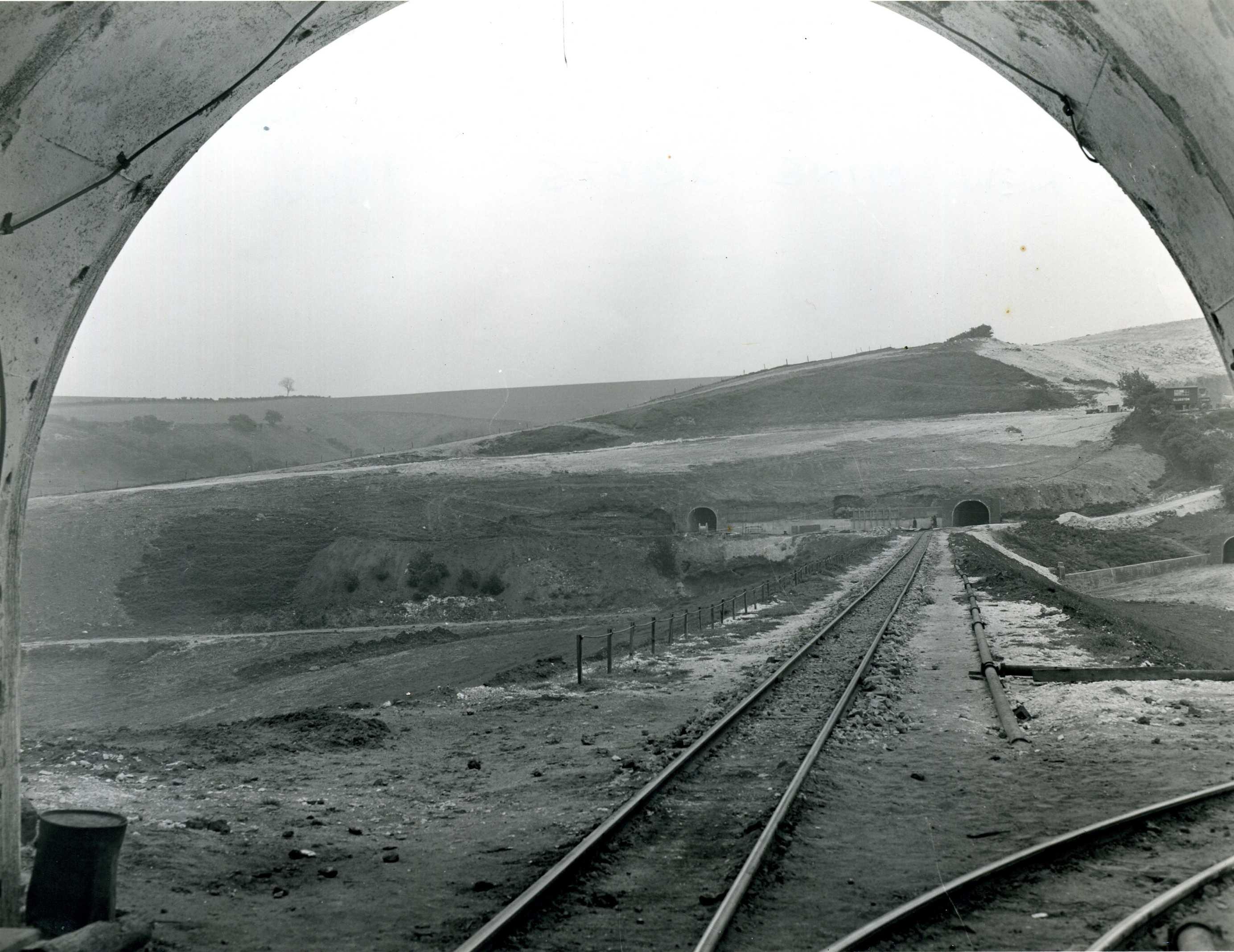 Embankment from Haulage Tunnel Towards Main Drift