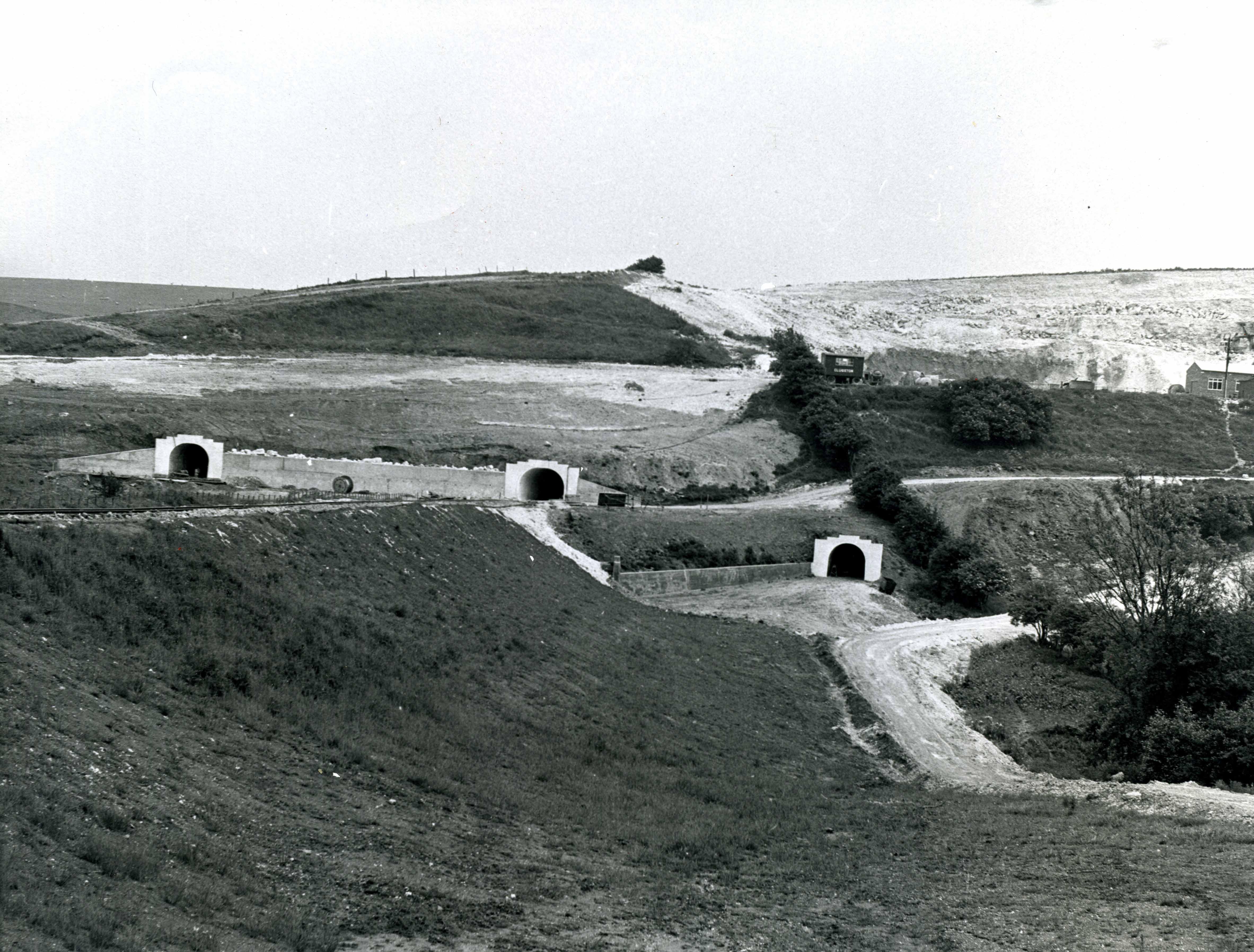 Three Tunnel Entrances