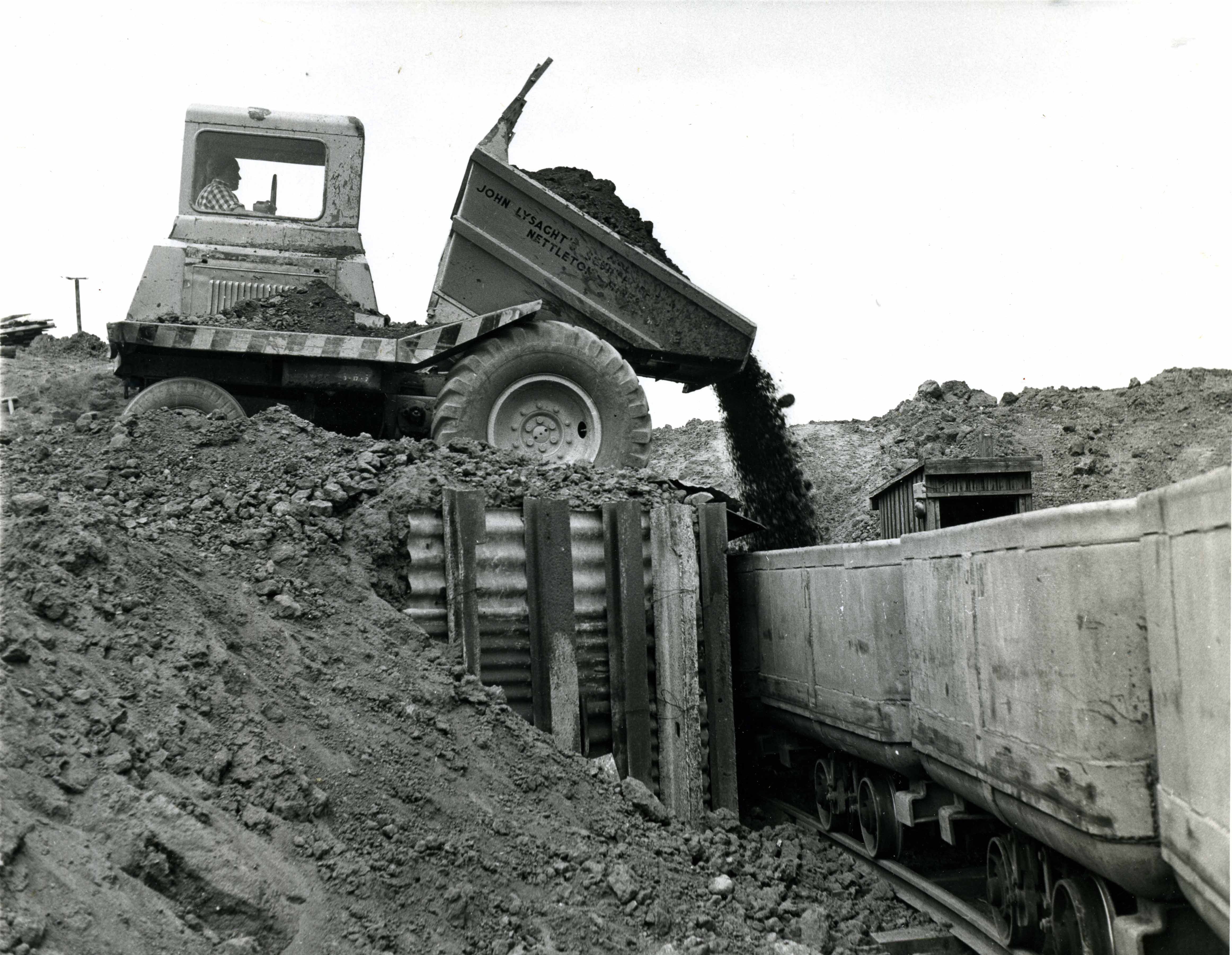 Tipping Ore into Wagons