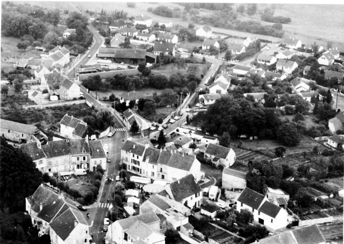 Aerial View of Caistor with Fair