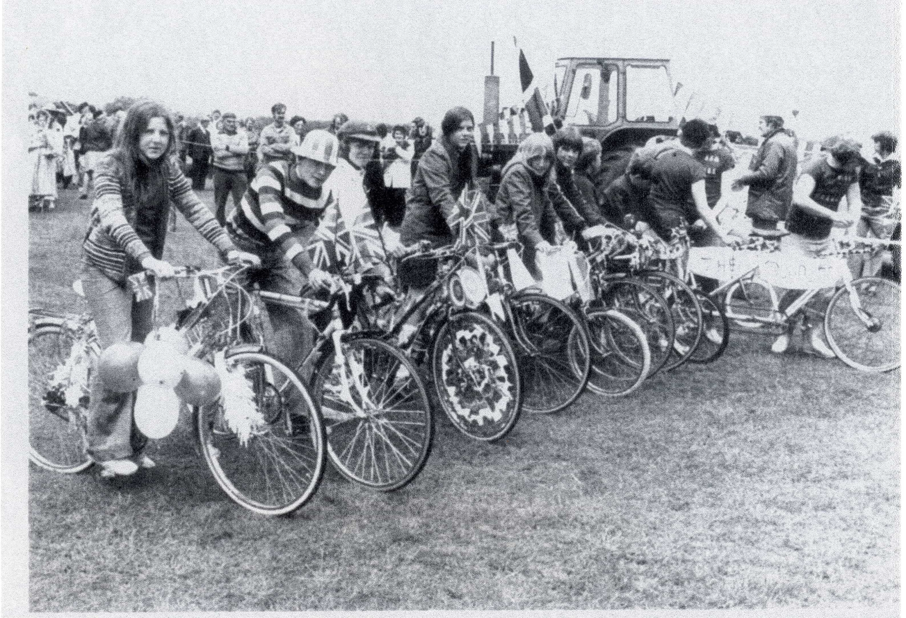 Cycles Decorated for Race