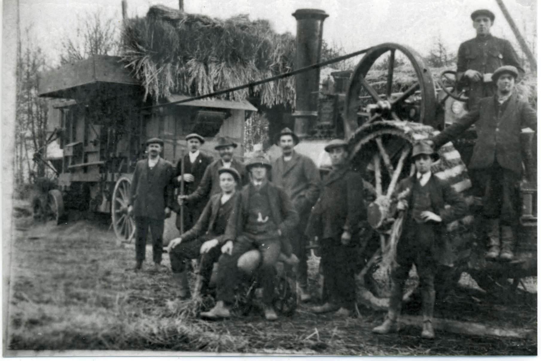 Steam Driven Farm Machinery and Hay Making Gang